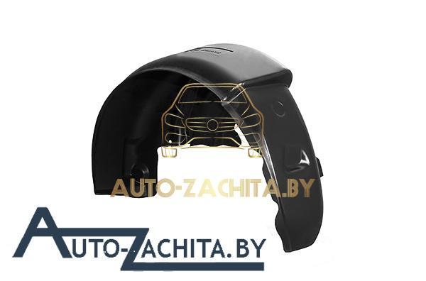 защита колесных арок (подкрылки, локеры) Mitsubishi Lancer X (передние, 2 шт.) Полные 2007-