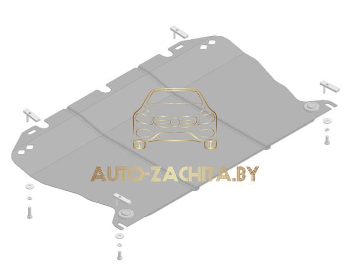 защита колесных арок (подкрылки, локеры) Mercedes-Benz E-klasse W211 (передний левый, задняя часть) 2002-2009
