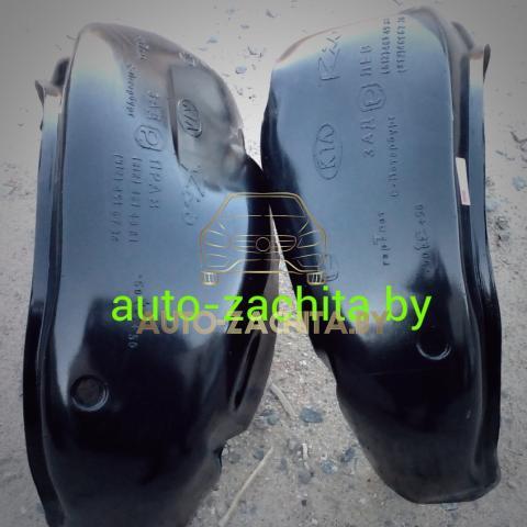 защита колесных арокб подкрылки, локеры Kia Rio (задние, 2 шт.) Полные 2000-2011