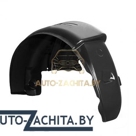 защита колесных арок (подкрылки, локеры) Mitsubishi Lancer X (задние, 2 шт.) Полные 2007-